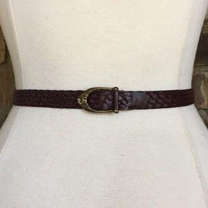 Etienne Aigner Belt Leather Vintage Skinny
